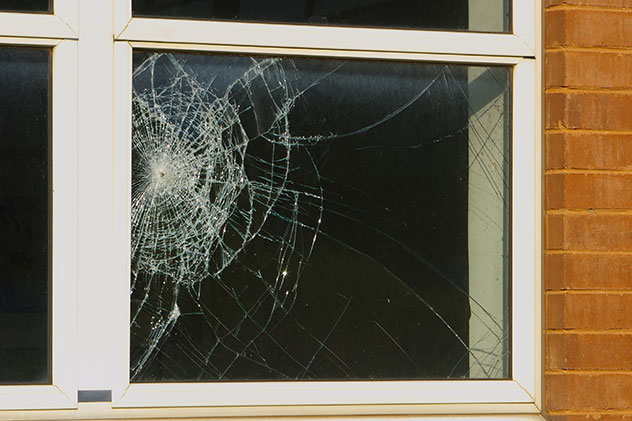 Glass and window damage in Hamilton Ontario